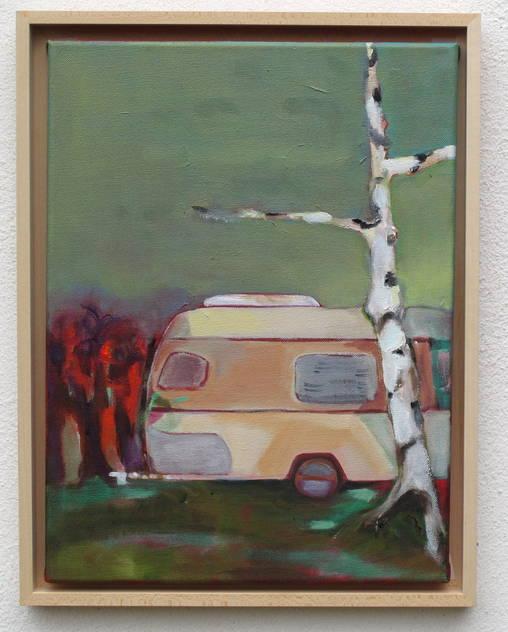 Caravan II / Camping - Öl auf Leinwand