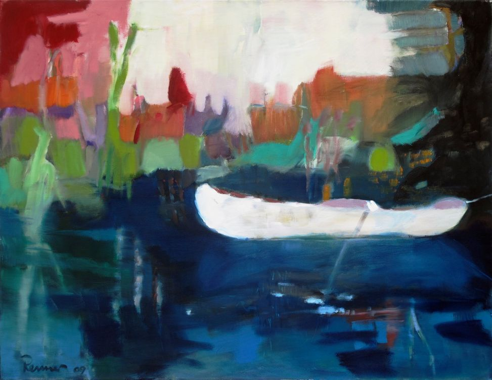 das weiße Boot (2009) - 100 x 130 cm - Öl auf Leinwand (Archiv Tom)