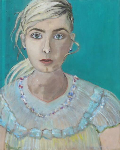 die Blonde - 75 x 60 cm/ Öl auf Leinwand - 2015