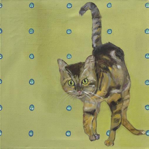 Katze I - 60 x 60 cm/÷l a. LW - 2011