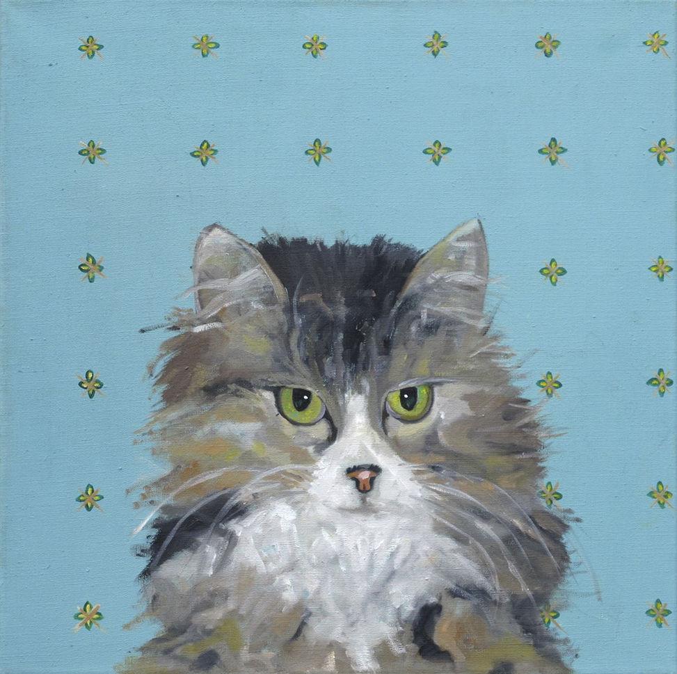 Katze III - 60 x 60 cm/÷l a. LW - 2011