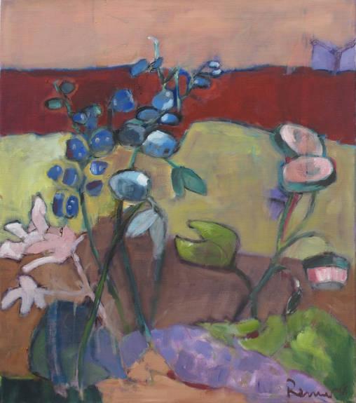 M´s wunderbarer Garten - 80 x 70 cm / Öl auf Leinwand - 2016