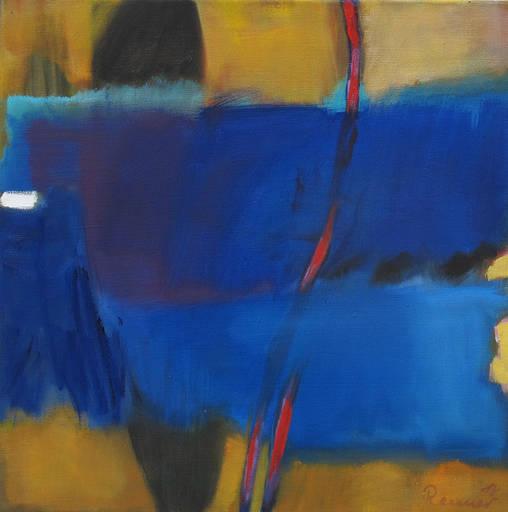 o.T. (blaue Serie) - 50 x 50 cm - Öl/LW - 2018