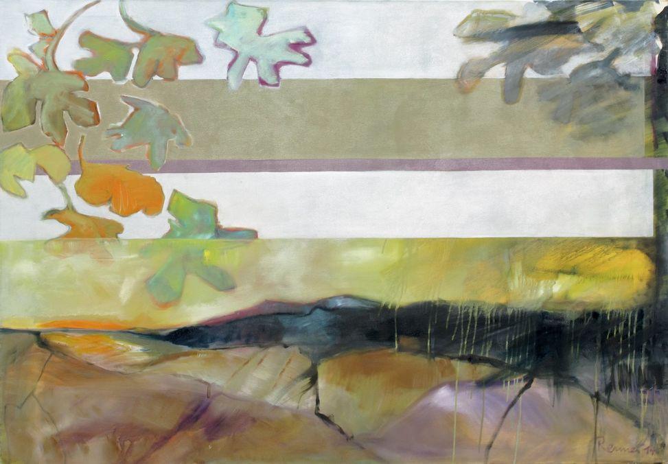 in der Ferne - 110 x 160 cm - Öl auf LW/ 2014
