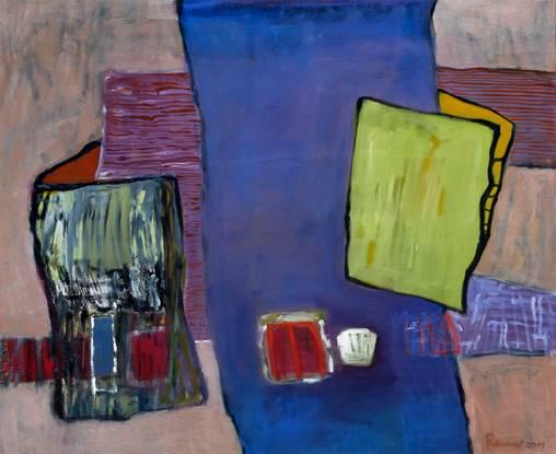 Das blaue Band - 90 x 100 cm/Öl a. LW - 2011